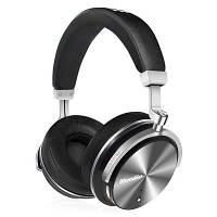 Bluedio T4s Беспроводные блютуз головные наушники с микрофоном и шумоподавлением Чёрный