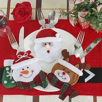 WS Рождественская салфетка для столовых приборов 3шт Цветной