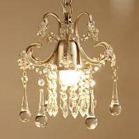 Подвесная лампа для галереи и бара с бозой и лампой в искусственном кристаллическом стиле E27 110-120V