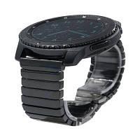 22мм Браслет из керамики и нержавеющей стали для часов с ремешком роскошный гладкий браслет+бабочка-застежка для Samsung Gear S3 Classic и Frontier