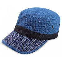 QingFang Мужской Солнцезащитный Крем Трикотажные Брим Бейсболка Мода Шляпа Синий