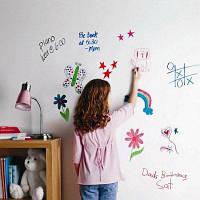 Перезаписываемый ПВХ обучение граффити стикер стены доски 53124
