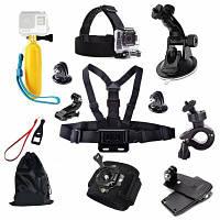 Комплект принадлежностей для профессиональной спортивной камеры Чёрный