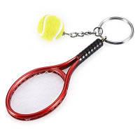 Брелок для ключей с подвеской теннисная ракетка и шар 27470