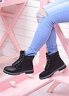 Демисезонные ботинки на шнурках Эко-кожа