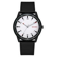 DOOBO D027 4764 Мода Кожаный ремешок с кварцевым механизмом Мужские часы с коробкой Белый
