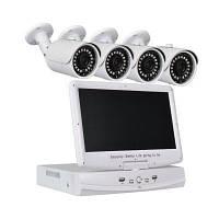 4 канальная система AHD 1080N видеорегистратор с 10.1 дюймовым LCD экраном 4 х 1.0MP водонепроницаемая камера с ночным видением США