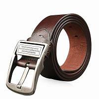 Архаический подлинная кожаный пояс досуг брюки для мужчин Коричневый
