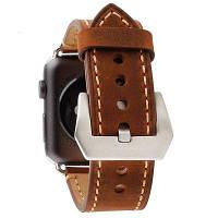 Натуральная кожаный сменный ремешок из воловьей кожи для iWatch Apple Watch ремешок 42мм Цвет капучино