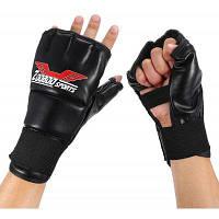 Zooboo боксерские перчатки с пальцами наполовину Чёрный