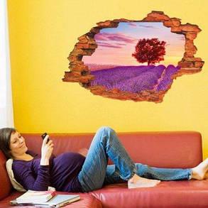 LAIMA Декоративный настенный стикер наклейка лаванда 3D украшение для дома - Цветной, фото 2