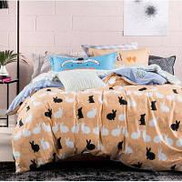 Хлопковое постельное белье в европейском стиле 4шт Цветной