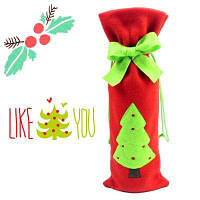 Macroart Многоразовый мешок для бутылки с шаблоном рождественской елки / снеговика / санта-клауса Стиль Дерева