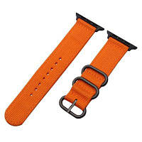 Спортивный тканевый ремешок из нейлона и парусины для Apple Watch 42мм Оранжевый