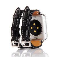 Роскошный ремешок из натуральной кожи для Apple Watch серии 3 2 1 42мм Чёрный