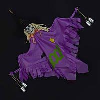 Ведьма висячее украшение с колоколами реквизит для сцены Хэллоуина Фиолетовый