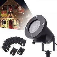 YouOKLight 4W 12 типов Многоцветный Рождественский Лазерный Светодиодный Проектор Со Снежинками 100-240V 1ШТ
