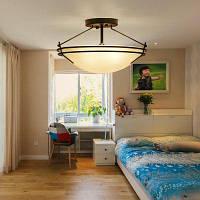 Jueja Утюг границе стеклянный абажур 3 E27 Лампа цоколь дома потолочное освещение люстры подвесные для спальни гостиной Чёрный