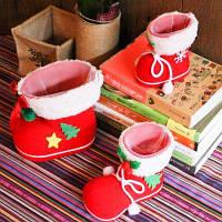 Рождественские украшения детские подарочные сапоги конфеты малый пакет для подарков 1 шт. S