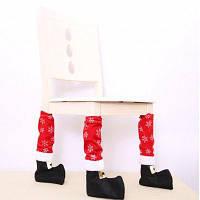 Творческие чехлы для ножек столов и стульев в стиле рождественских сапог 4шт снежинка