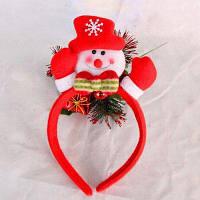 Симпатичная Светодиодная Мигающая Рождественская Головная Повязка Украшение На Голову Для Детей И Взрослых Красный