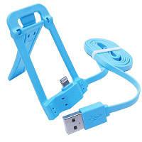 8-Контактный USB разъем для телефона зарядки держатель кабеля передачи данных Синий