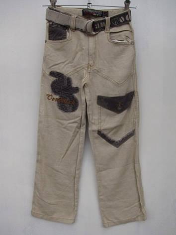 Летние брюки для мальчиков 140,145,150,155,160 роста Лен, фото 2
