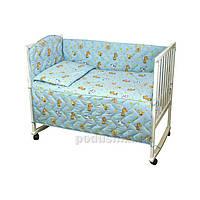 Спальный комплект для детской кроватки Руно 977У Игрушки голубой