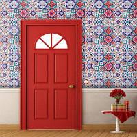 Творческий Цветочным Узором Домашнего Декора Наклейки Плитки Цветной