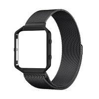 Магнитный миланский браслет из нержавеющей стали для Fitbit Blaze Чёрный