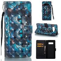 Big Blue Cat 3D окрашенный телефон Pu телефон для Samsung Galaxy Note 8 Цветной