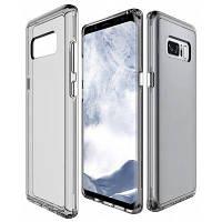 Зкаэ прозрачный двойной слой Стиль Анти сделана противоударная Защитная оболочка крышки Чехол для Samsung Галактики Примечание 8 прозрачный серый