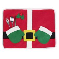 Стирающаяся салфетка для столовых приборов рождественский декоративный настольный коврик Цветной