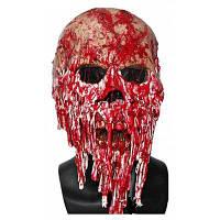 Латексная ужасная маска кровавое лицо для Хэллоуина Красный
