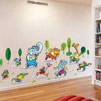 YEDUO животные стикер стены винил DIY настенная домашнего декора детская комната наклейки Цветной