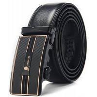 Сплав Автоматическая Пряжка кожаный ремень брюк для мужчин Чёрный