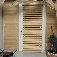 Стильные деревянные жалюзи цвет натуральный, фото 1