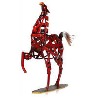 MCYH 516 творческий металл фигурка железный конь статуэтка Красное вино