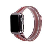 Магнитная сетчатый браслет с регулируемым магнитным замком запасной браслет для Apple Watch серии 3 2 1 38мм Красное вино