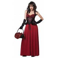 Декоративное платье из спандекса для косплея Хэллоуина Красный