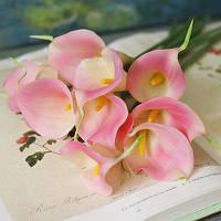 8шт современные декоративные ПУ Калла Лили искусственные цветы Розовый