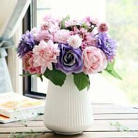 Георгин Розы искусственные цветы для украшения дома Цветной