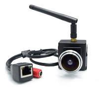 960P 1.78мм Рыбий глаз объектив Onvif2.0 широкоугольная беспроводная IP-камера внутренняя наименьшая сетевая камера Чёрный