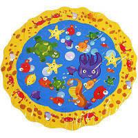 Детский болотный бассейн брызгающий и всплескивающий игровой коврик Цветной