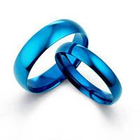 Кольцо из вольфрама Everiot R-TG-143, обручальное, синее шириной от 2 до 8 мм