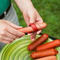 Фантазии колбаса спираль хот-дог резак slicer инструмент барбекю 2шт Разноцветный