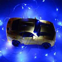 4M 40-Светодиодные лампы с питанием от батареи медный провод гирлянда из фонариков домашнее украшение светло-синий