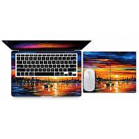 Восход солнца в морской Стиль крышки корпуса наклейки для xiaomi ноутбука воздуха 12.5 Разноцветный