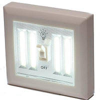 Supli 4COB Led Wireless Night Light Switch Настенная лампа с батарейным питанием Кухонный шкаф Гараж Closet Camp Emergency Lamp with Magnetic Белый