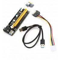 PCI-E 1X на 16X экстендер рост карта адаптер с кабелем USB 3.0 Чёрный и зелёный